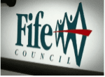 a sign showing fife council's logo